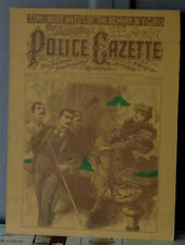 Nice Vintage Reproduction, Cover Police Gazette, 1895