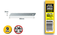50 x GENUINE OLFA AB-50, 9mm SNAP OFF UTILITY BLADES