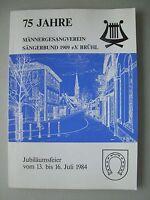 75 Jahre Männergesangverein Sängerbund 1984 Brühl Jubiläumsfeier Festschrift