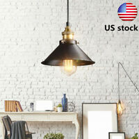 Industrial Vintage Ceiling Light Chandelier Metal Hanging Fixture Pendant Lamp