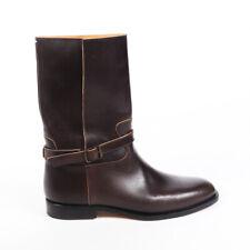Maison Martin Margiela Boots Brown Leather Split Shaft Moto SZ 40