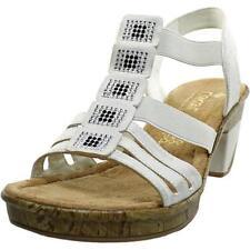 Block Leather Medium (B, M) Slip On Sandals & Flip Flops for Women