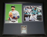 Robinson Cano Signed Framed 16x20 Photo Display TOPPS Mariners Yankees