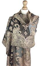 New Ladies Womens Mesh Leaf Print Neck Pashmina Scarf Wrap Shawl Stole Scarves
