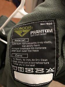 Mens Condor Phantom Soft Shell Jacket XXXL OD. Perfect Condition.