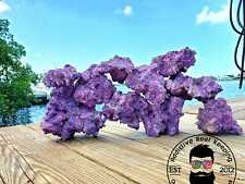Purple Dry Reef Rock Aragonite Base, Porous Aquariums Live Free Shipping!