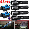 US Tactical 350000LM LED Flashlight Ultra Super Bright Zoomable Torch Light Lamp