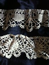 Antique Handmade  Hem Lace Trim 1800's Two Pieces