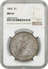 1860 $1 NGC MS61 - Liberty Seated Dollar