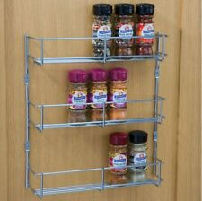 BEST QUALITY SPICE RACK - 3 TIER X 300MM FOR BACK OF KITCHEN DOOR