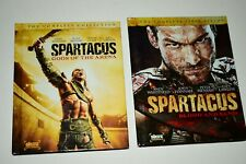 (2) Spartacus Season DVD Lot: Blood & Sand Gods of the Arena w/Slipcovers  Starz