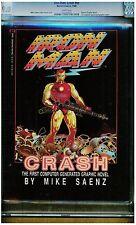 IRON MAN CRASH NN CGC 9.0 1ST MARVEL COMPUTER GENERATED GRAPHIC NOVEL 1988 WHITE