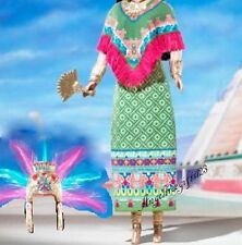 Princess of ancient Mexico dress fits model muse silk stone royalty Barbie