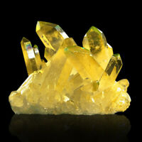 Natural Yellow Clear Quartz Cluster Mineral Specimen Crystal Healing Decor