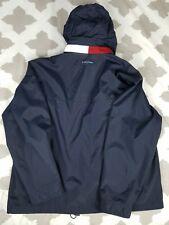 Tommy Hilfiger Vintage Hoodie Parka Jacket Mens sz XL Neck Flag Logo Windbreaker