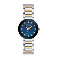 Bulova Futuro Women's Quartz Diamond Accents Two-Tone Bracelet 26mm Watch 98P157
