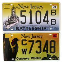 Lot de 2 plaques d'immatriculation américaines NEW JERSEY USA License Plates