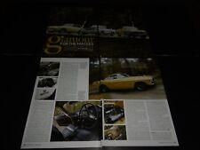 MGC GT Ford Capri V6 Volvo 1800E article also  Ferrari 275 NART Spyder