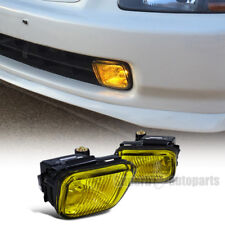 For 1996-1998 Honda Civic Fog Lights Kit W/Switch Yellow Lens