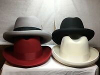 New with Tag Dobbs Fifth Ave New York Fleetwood God Father Men's Hat Brim 2 1/8'
