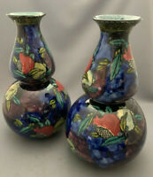 Hancock & Sons Rubens Ware Pomegranate Handpainted Pair of Large Vases.