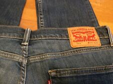 Original Levi's Indigo 511 men's jeans W36 L32, zip fly, distressed crotch area.
