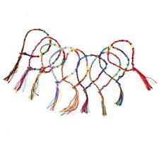 9 x Hippie Style Colorful Braided Friendship Bracelets Wrist Ankle Bracelet W2N6
