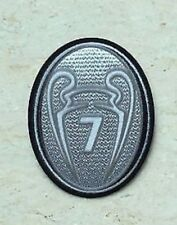 UCL UEFA Champions League Silver Trophy 7 Cup Patch Badge For AC Milan