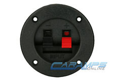 NEW SUBWOOFER SPEAKER ROUND BOX TERMINAL SPRING CUP PLATE CONNECTOR SUB