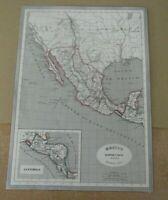 Mapa Antiguo de Mejico Guatemala 1852 Gaspar y Roig Madrid   33 x 25cm.