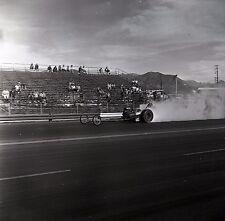 Front Engine Dragster - Starting Line Scene - Vintage Drag Racing Negative