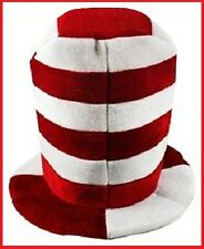 CHRISTMAS HAT Red White Dr Seuss CAT in HAT School Work Home Party Costume 1 sz