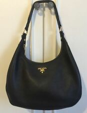 PRADA Leather Hobo Handbags