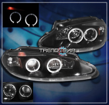 1998-2004 DODGE INTREPID HALO PROJECTOR HEADLIGHT BLACK 1999 2000 2001 2002 2003