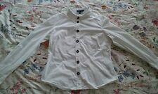 Boden white blouse /shirt 14