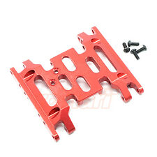 Xtra Speed Aluminum 6061 T6 Center Skid Plate Axial SCX10 II Red #XS-SCX230051RD