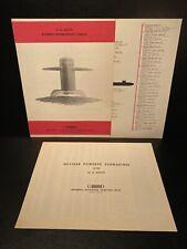 1964 General Dynamics Atomic Submarine Lineup + 1964 Nuclear Sub Data Sheet