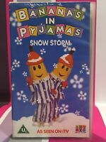 Bananas In Pyjamas - Snow Storm VHS Video Tape Vintage Pre School Childrens TBLO