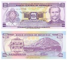 Honduras 2 lempiras 2010 P-90 Billetes Unc
