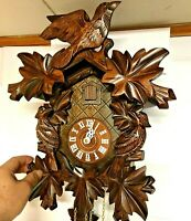 ⭐️Vintage Black Forest Reuge 8 Day Cuckoo Clock 8 leaves No. 859 Made in Germany