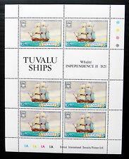 TUVALU 1981 - 35c Ship Sheetlet of 6 with Spelling Error PLEASE SEE BELOW...FP95