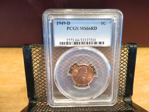1949-D Lincoln Cent PCGS MS66RD skcl0051