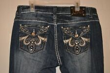 Cello Jeans Bootcut size 9 embellished stitched pockets