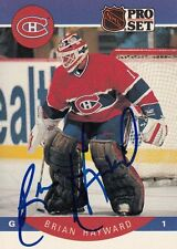 BRIAN HAYWARD Montreal Canadiens Autographed Signed Hockey NHL Pro Set Card 150