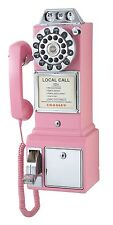 Classic Telephone Old Fashioned Pay Phone Vintage Rotary Dial Wall Mount Replica