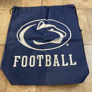 Penn State Nittany Lion Football Blue Canvas Backpack Sack Book Bag