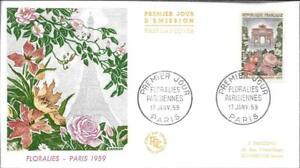 1189 + FDC  ENVELOPPE 1er JOUR    FLORALIES  PARISIENNES