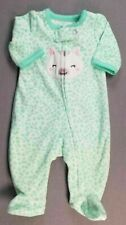 Baby Girl Clothes Nwot Simple Joys Carter's Preemie Fleece Kitty Footed Outfit