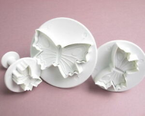 3 Butterfly Cutter Plunger for Cake Decorate
