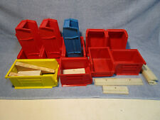 Parts Bins. 1 Dozen, Plastic, Small & Large, Used
